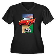 Foreign Auto Women's Plus Size Dark V-Neck T-Shirt