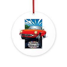 Foreign Auto Club - Framed Italian  Round Ornament