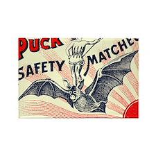 Puck Riding Bat Swedish Matchbox  Rectangle Magnet