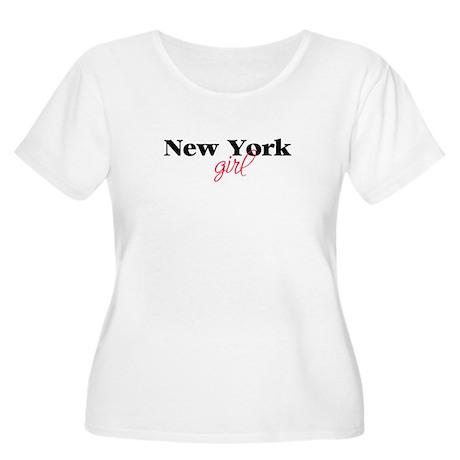 New York girl (2) Women's Plus Size Scoop Neck T-S