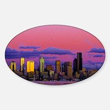 seattlemooncanvas Sticker (Oval)