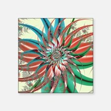 "Spiral Garden Square Sticker 3"" x 3"""