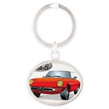 Foreign Auto Club - Red Italian 1 Oval Keychain