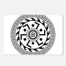 Greek Art - Decorative Circle Postcards (Package o