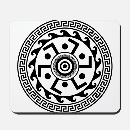 Greek Art - Decorative Circle Mousepad