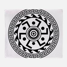 Greek Art - Decorative Circle Throw Blanket