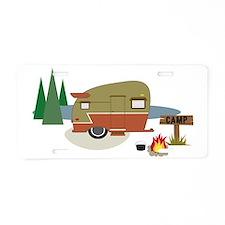 Camping Trailer Aluminum License Plate