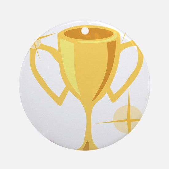 Trophy Cup  Round Ornament