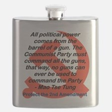 ALL POLITICAL POWER COMES FROM THE GUN Flask