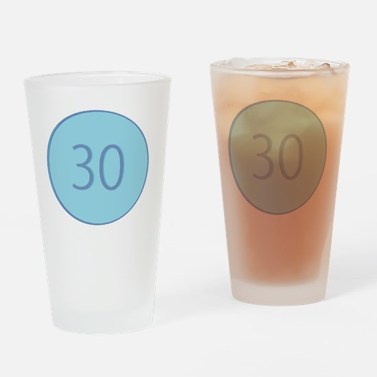 Thirty Drinking Glass
