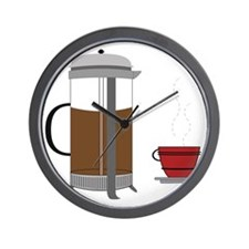 Coffee Press Wall Clock