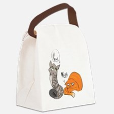 Two Cats Canvas Lunch Bag