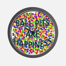 Ball Pits Are Happiness Wall Clock