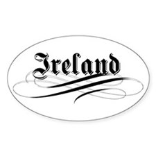 Ireland Gothic Oval Decal