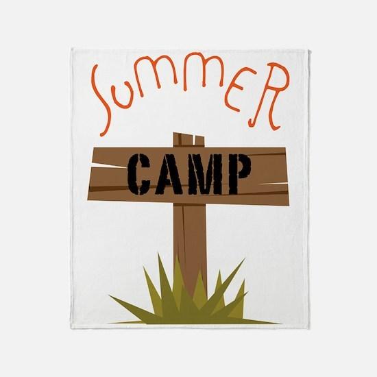Summer Camp Throw Blanket