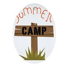 Summer Camp Oval Ornament