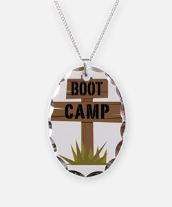 Boot Camp Necklace Oval Charm