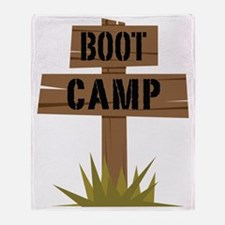 Boot Camp Throw Blanket