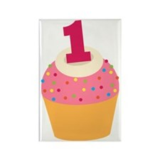 1st Birthday Cupcake Rectangle Magnet