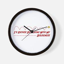 Bolognese Play Wall Clock