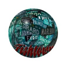 "Philadelphia Fishtown Streets Momentos 3.5"" Button"