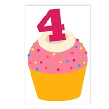 4th Birthday Cupcake Postcards (Package of 8)