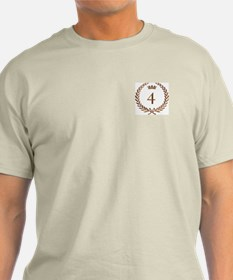 Napoleon gold number 4 Ash Grey T-Shirt
