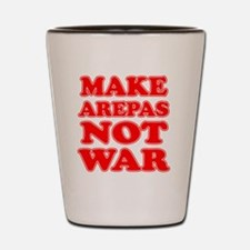Make Arepas Not War Shot Glass