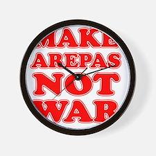 Make Arepas Not War Wall Clock