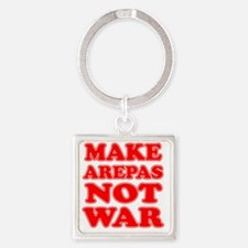Make Arepas Not War Square Keychain