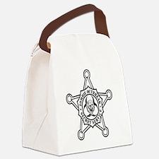 Zombie Secret Service Badge Canvas Lunch Bag