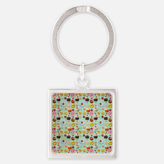 Sweets Square Keychain