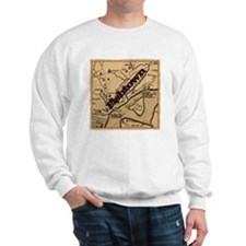 Philadelphia Fishtown map ca.1752 Sweatshirt