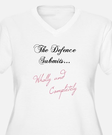 The Defence Submits Women's Plus Size V-Neck Tee