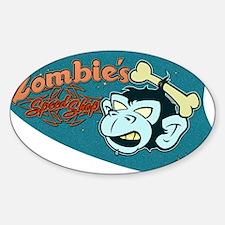 ZOMBIES SPEED SHOP Sticker (Oval)