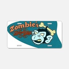ZOMBIES SPEED SHOP Aluminum License Plate