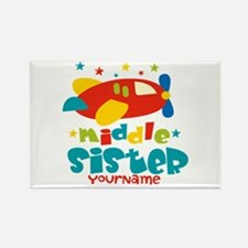 Middle Sister Plane - Personalized Rectangle Magne