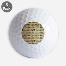 Vintage Barnyard Birds Golf Ball