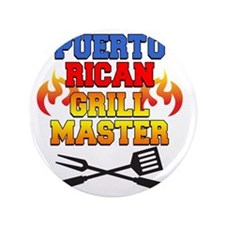 """Puerto Rican Grill Master Apron 3.5"""" Button"""