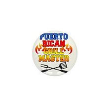 Puerto Rican Grill Master Apron Mini Button