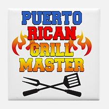 Puerto Rican Grill Master Apron Tile Coaster