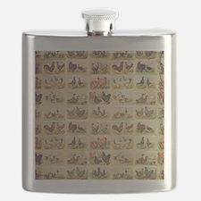 Vintage Barnyard Birds Flask