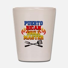 Puerto Rican Grill Master Apron Shot Glass