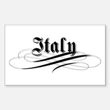 Italy Gothic Rectangle Decal