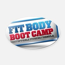 SLP Fit Body Boot Camp Oval Car Magnet