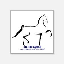 "Beat Cancer Square Sticker 3"" x 3"""
