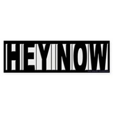 Hey Now Howard Stern Bumper Car Sticker