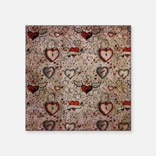 "Love Doodles Square Sticker 3"" x 3"""