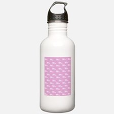 Pink mr and mrs flip f Water Bottle
