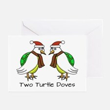 Two Turtle Doves Greeting Cards